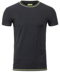T-Shirt Kurzarm in Schwarz mit Rundkragen
