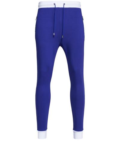 Sweatpants in Blau - Taschen mit Zip